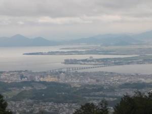 比叡山ドライブウェイから見た琵琶湖